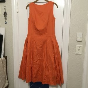 Isaac Mizrahi Poppy Boatneck Fit and Flare Dress